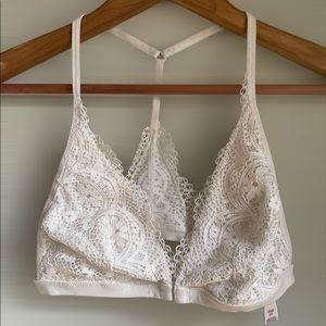VIctorias secret white lace bralette small